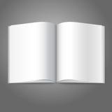 空白的白色传染媒介打开了书、杂志或者照片 免版税库存照片