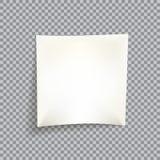 空白的白色便条纸 库存照片