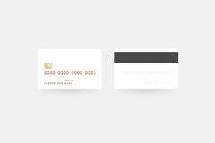 空白的白色信用卡大模型,裁减路线,前面 库存图片