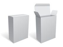 空白的白色包裹箱子 免版税图库摄影