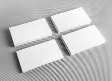 空白的白色名片 库存图片