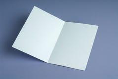 空白的白色开放礼品券 免版税库存图片