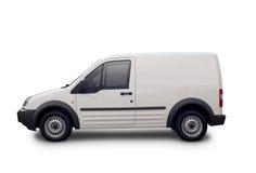 空白的白色搬运车 免版税图库摄影