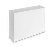 空白的白色箱子 免版税库存照片