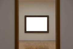 空白的白色美术画廊框架图片墙壁白色当代Mo 库存照片