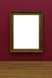 空白的白色美术画廊框架图片墙壁白色当代Mo 免版税库存照片