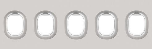 空白的白色飞机窗口 库存图片