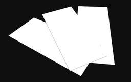 空白的白色4x8英寸飞行物收藏- 15 免版税库存照片