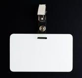 空白的白色id卡片 库存图片