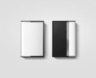 空白的盒式磁带箱子设计大模型,后部视图 免版税图库摄影