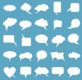 空白的空的白色讲话泡影 免版税图库摄影