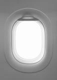 空白的窗口飞机 免版税库存照片
