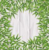 空白的竹叶子框架 库存例证