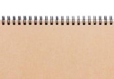 空白的笔记本。 库存照片