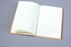 空白的笔记本做广告的嘲笑,模板或烙记 库存照片
