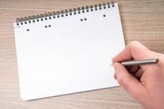 空白的笔记薄 免版税图库摄影
