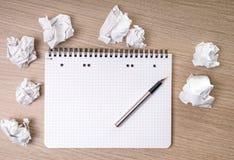 空白的笔记薄 免版税库存照片