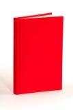 空白的红色书-裁减路线 免版税库存照片