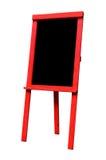 空白的红色黑板地板立场标志 库存图片
