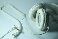空白的耳机 库存照片