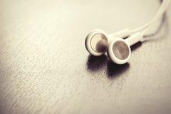 空白的耳机 免版税库存照片