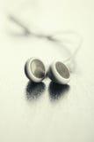 空白的耳机 图库摄影