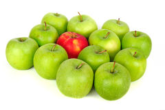 空白的苹果 库存图片