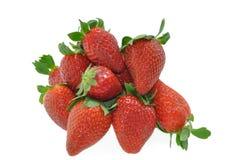 空白的草莓 图库摄影
