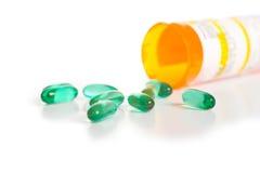 空白的药片 免版税库存照片