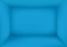空白的蓝色室背景传染媒介 免版税库存照片