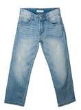 空白的蓝色牛仔裤 库存照片