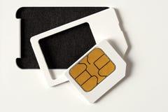 空白的西姆卡片 免版税库存图片