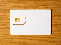空白的西姆卡片 库存照片