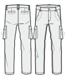 空白的货物裤子 向量例证