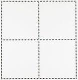 空白的邮票背景 免版税库存图片