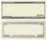 空白的钞票 图库摄影