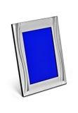 空白的银色照片框架 库存图片