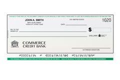 空白的银行支票 免版税库存照片