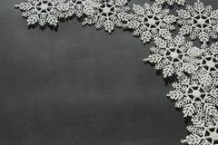 空白的雪花 免版税库存照片