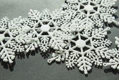空白的雪花 库存照片