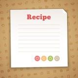 空白的食谱卡片模板 库存照片