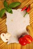 空白的食谱页 免版税库存照片