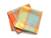 空白的餐巾 免版税图库摄影
