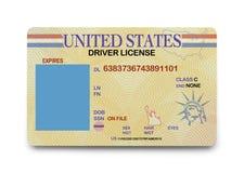 空白的驾驶执照 库存照片