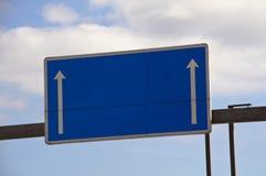 空白的高速公路标志 图库摄影
