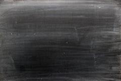 空白的黑人委员会有被摩擦的白垩纹理背景 库存图片