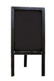 空白的黑板地板立场标志 免版税库存照片