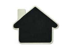 空白的黑板房子形状 免版税库存图片