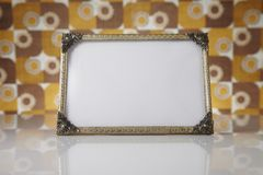 空白的画框,金子 库存照片