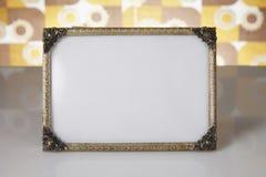 空白的画框,金子 免版税库存图片